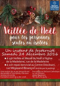 affiche association veillée de noel