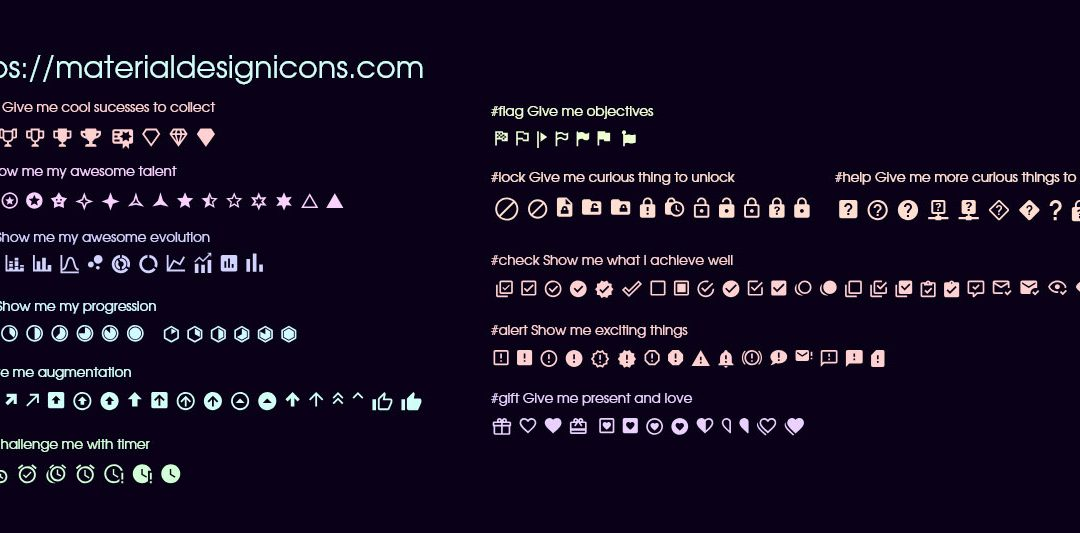 Gamification free icons pack to download